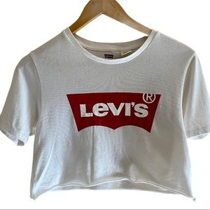Cropped Levi's T Shirt XS top cotton girls